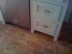 brick kitchen floor tile kitchen pinterest brick kitchen
