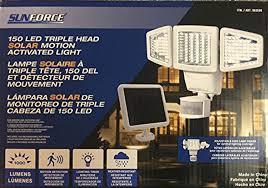Costco Outdoor Solar Lights by Sunforce 82153 150 Led Triple Head Solar Motion Light 1000 Lumen