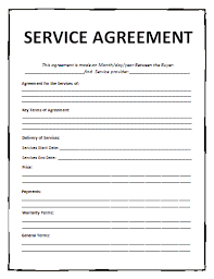 service agreement template free template examples