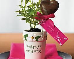 flower pot favors mini flower pots set of 6