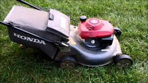 honda hrr216 harmony ii lawn mower with the quadra cut system