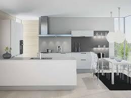 deco cuisine grise et couleur mur cuisine avec meuble blanc pour idees de deco de cuisine