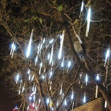 hang led snowfall meteor light wedding blue