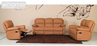 Leather Reclining Living Room Sets Fl0682 Honey Color Italian Leather Reclining Living Room