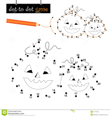 dot to dot game halloween pumpkins royalty free stock photo