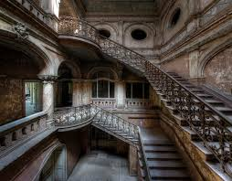 stairs in decay amazing staircase inside an abandoned castle
