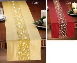 gold christmas table runner chairside end table with magazine rack cole papers design