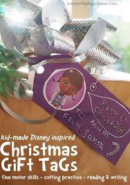 learn with play at home diy disney inspired christmas gift tags
