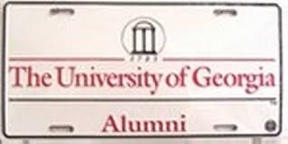uga alumni car tag of alumni arches license plates