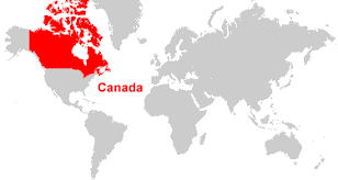 map if canada canada map and satellite image