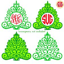 Christmas Tree Picture Frames Christmas Tree Frames For Monograms Svg Dxf Eps Svgmonograms