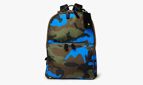 valentino camouflage print leather and canvas backpack highsnobiety