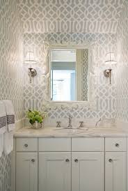 Bedroom Accent Wall With Snazzy Penny Tiles Decoist by 20 Gorgeous Wallpaper Ideas For Your Powder Room