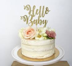 hello baby shower cakes hello baby cake topper baby shower glitter cake topper gender