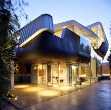 architecture house design exterior with skywave in venice and