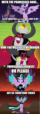 Mlp Fim Meme - tirek vs everyone meme role reversal by dashiemlpfim on deviantart