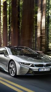 hd background bmw i 8 electric sports car silver front view