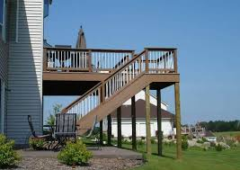 painted outdoor deck stair ways to build deck stairs