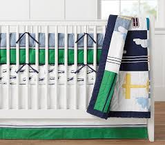 Airplane Crib Bedding Airplane Baby Bedding Pottery Barn