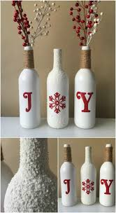 home decorating crafts 20 festively easy wine bottle crafts for holiday home decorating