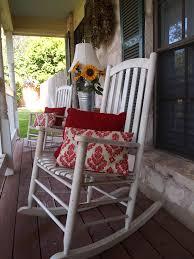 outdoor white wicker patio rocking chair wooden double rocker