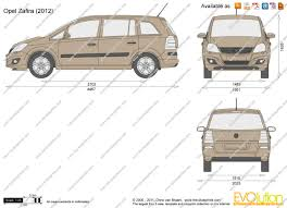 the blueprints com vector drawing opel zafira