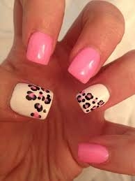 toe nail designs leopard pink and white leopard toe nail