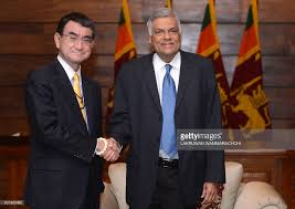 sri lankan l japanese foreign minister taro kono l and sri lankan prime