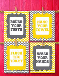 Yellow Bathroom Accessories by Best 25 Yellow Gray Bathrooms Ideas Only On Pinterest Yellow