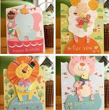 greeting cards wholesale wholesale 36pcs lot animals kids birthday greeting card with