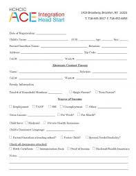 registration forms hchcic ace integration head start