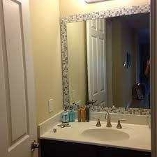 bathroom mirror trim ideas bathroom trim around bathroom mirror adorable glass shower