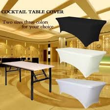 cocktail party decorations ourwarm rectangular table cover spandex fabric tablecloth stretch