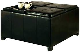 leather tray for coffee table wonderful leather storage ottoman with tray ottoman tray coffee