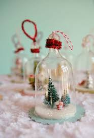 diy vintage inspired bell jar ornaments made from plastic wine