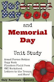 veteran u0027s day u0026 memorial day printable pack for all grades u2013 only