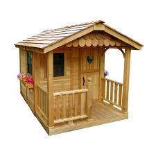 outdoor living today 6 ft x 9 ft sunflower playhouse sp69 the