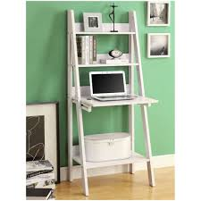 Bookcase With Ladder by White Leaning Wall Shelf Nice Leaning Ladder Shelf White Leaning