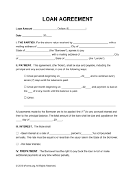 legal loan agreement legal loan agreement legally binding loan