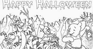 free winnie pooh happy halloween coloring pages