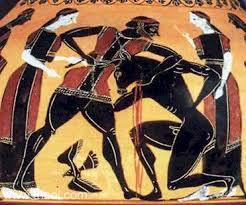 Greek Vase Images Theseus U0026 Minotaur Ancient Greek Vase Painting