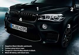 bmw black the black fire edition of the bmw x5 m and bmw x6 m