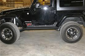 rhino jeep 2 door fours 07 08 jeep jk 2 door wrangler rock sliders black