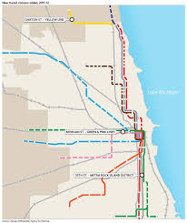 Pink Line Chicago Map by Regional Mobility Cmap