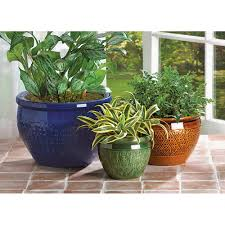 jewel tone flower pot trio wholesale at koehler home decor