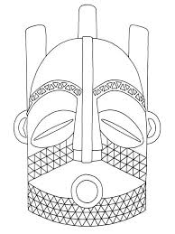 7 best images of west african mask template african mask clip