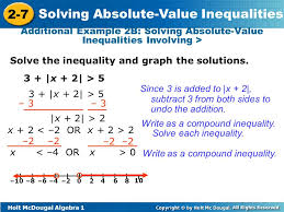 objectives solve compound inequalities in one variable involving