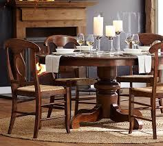 circle dining room table tivoli extending pedestal dining table pottery barn
