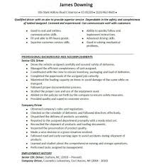 Truck Driver Job Description For Resume by Truck Driver Skills For Resume Resume For Your Job Application