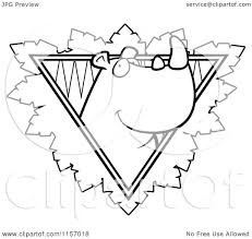 cartoon clipart of a black and white rhino face over a safari